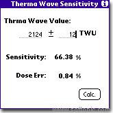 ThermalWave Sensitivity Calculator