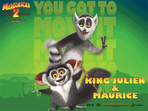 Madagascar 2: Rei Julien e Maurice