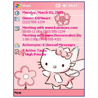 Browse to Hello Kitty Theme