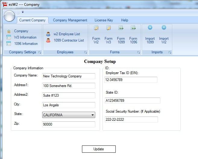 ezW2 2014 - W2/1099 Software