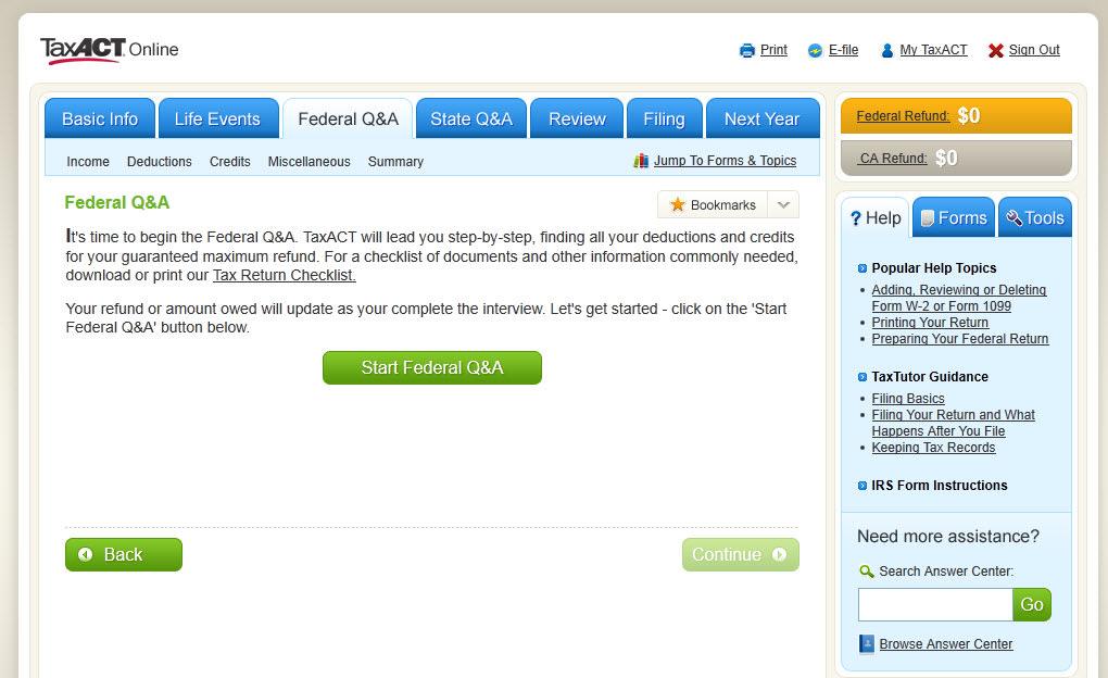 TaxACT Online
