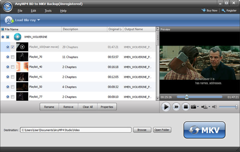 AnyMP4 BD to MKV Backup