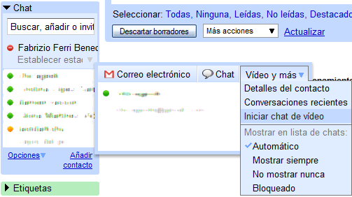 Chat de voz y vídeo de Google