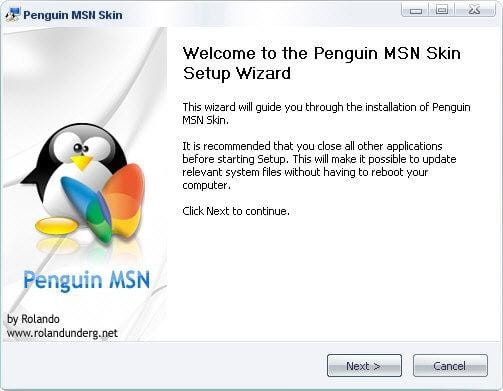 Penguin MSN Skin
