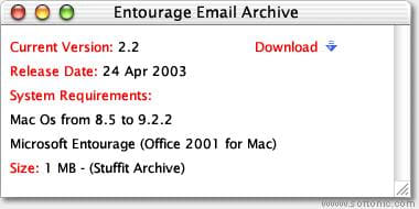 Entourage Email Archive