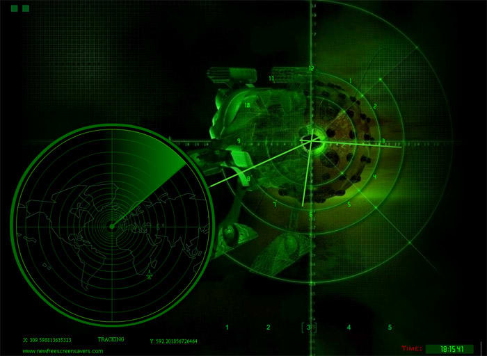 NFS Radar Screensaver