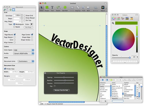 VectorDesigner: An intuitive yet powerful vector drawing program