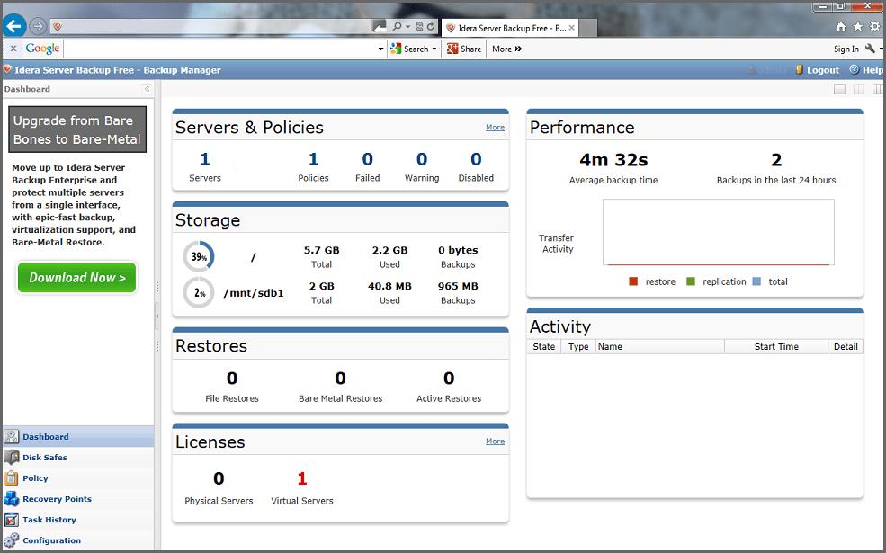 Server Backup Free