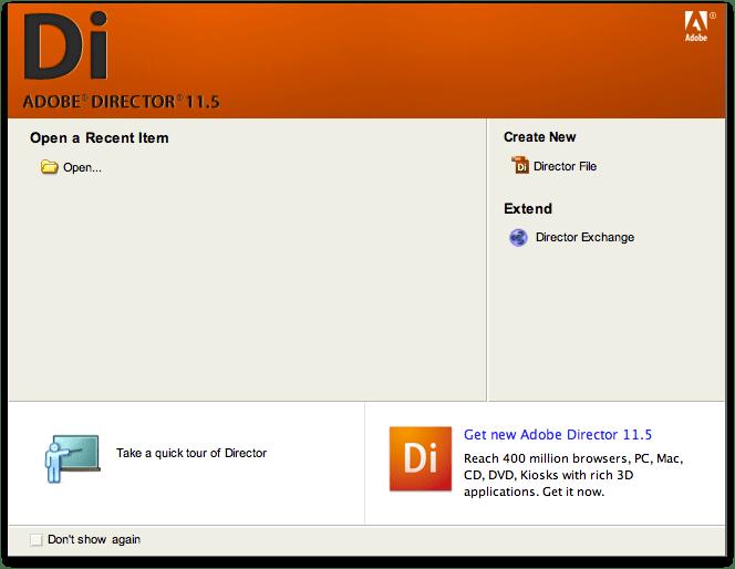 Adobe director 11.5