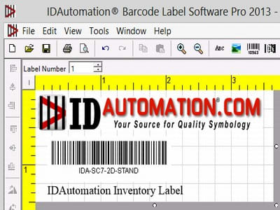 IDAutomation Barcode Label Pro Software