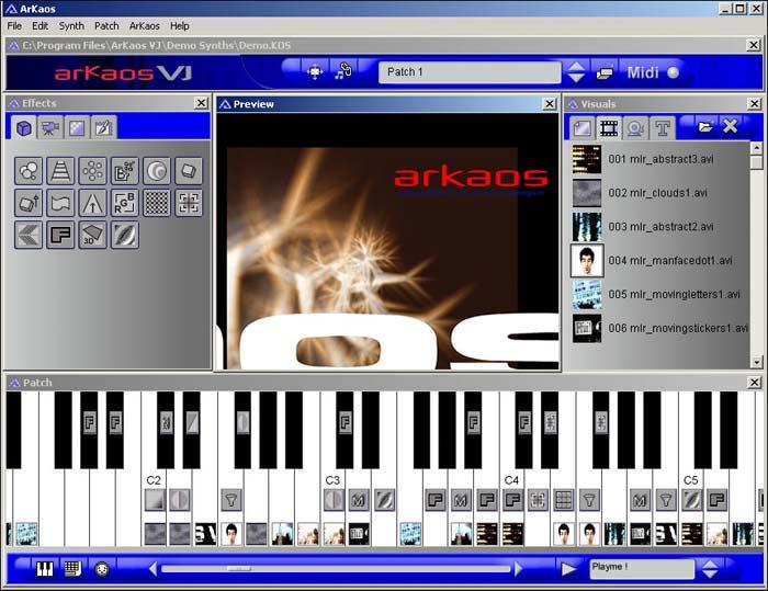 ArKaos VJ MIDI