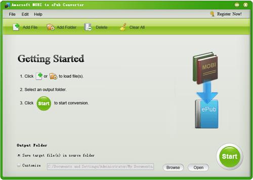 Amacsoft MOBI to ePub Converter