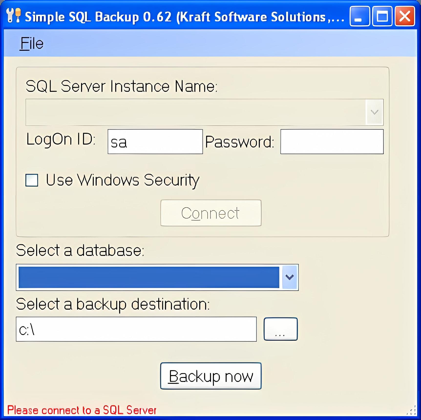 Simple SQL Backup
