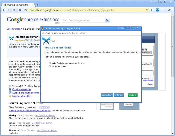Xmarks Bookmark Synchronizer (Foxmarks)