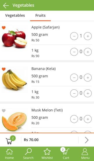 OhoShop Vegetables App