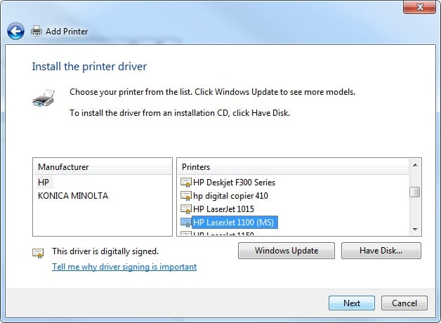 HP LaserJet 1020 Driver and Software Download for Windows