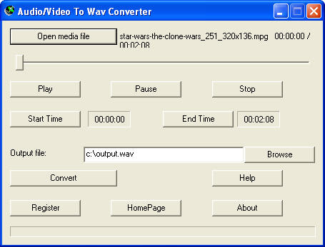 Audio/Video To Wav Converter