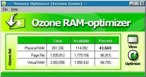 Ozone RAM-optimizer