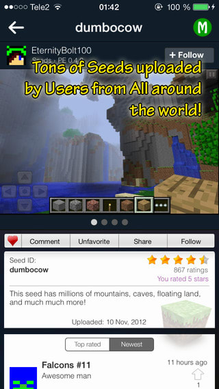Minecraft Seeds Lite