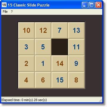 15 Classic Slide Puzzle