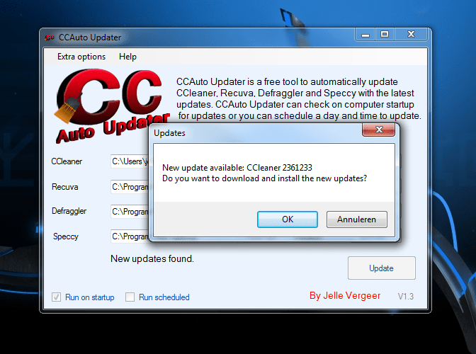 CCleaner Auto Updater
