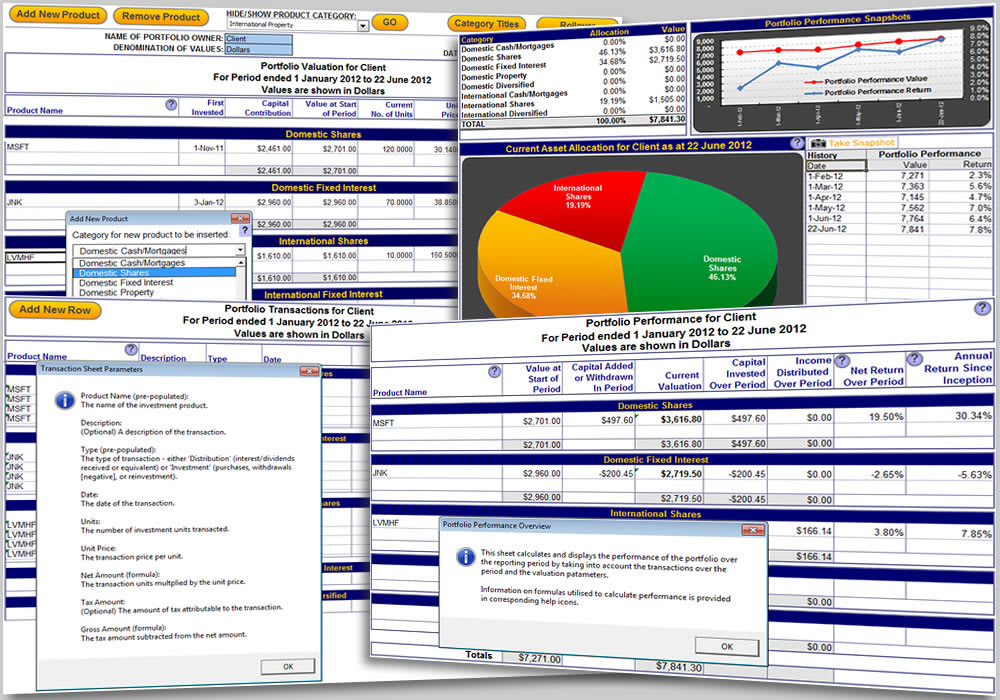 Excel Portfolio Tracking