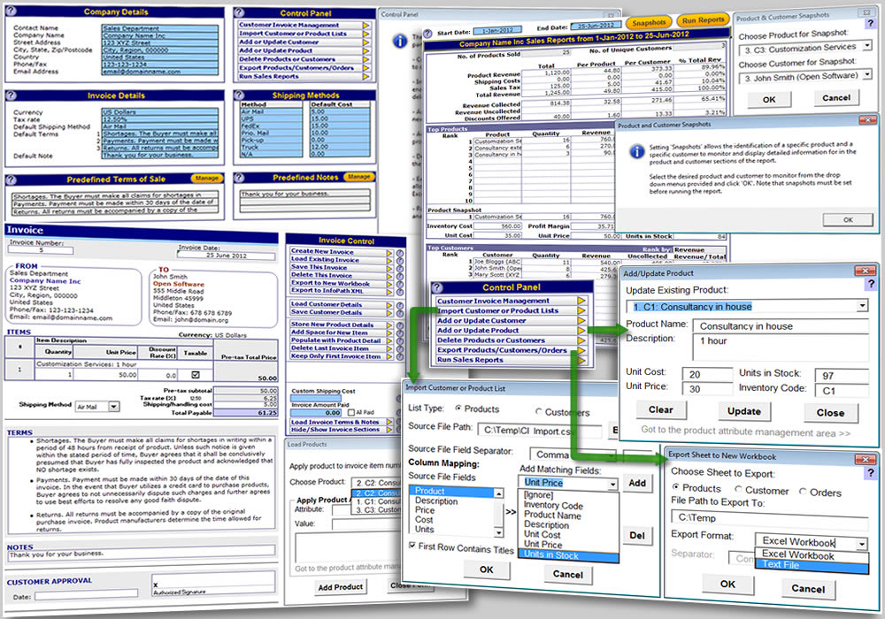 Excel Invoicing Template  Customer Invoice Template Excel
