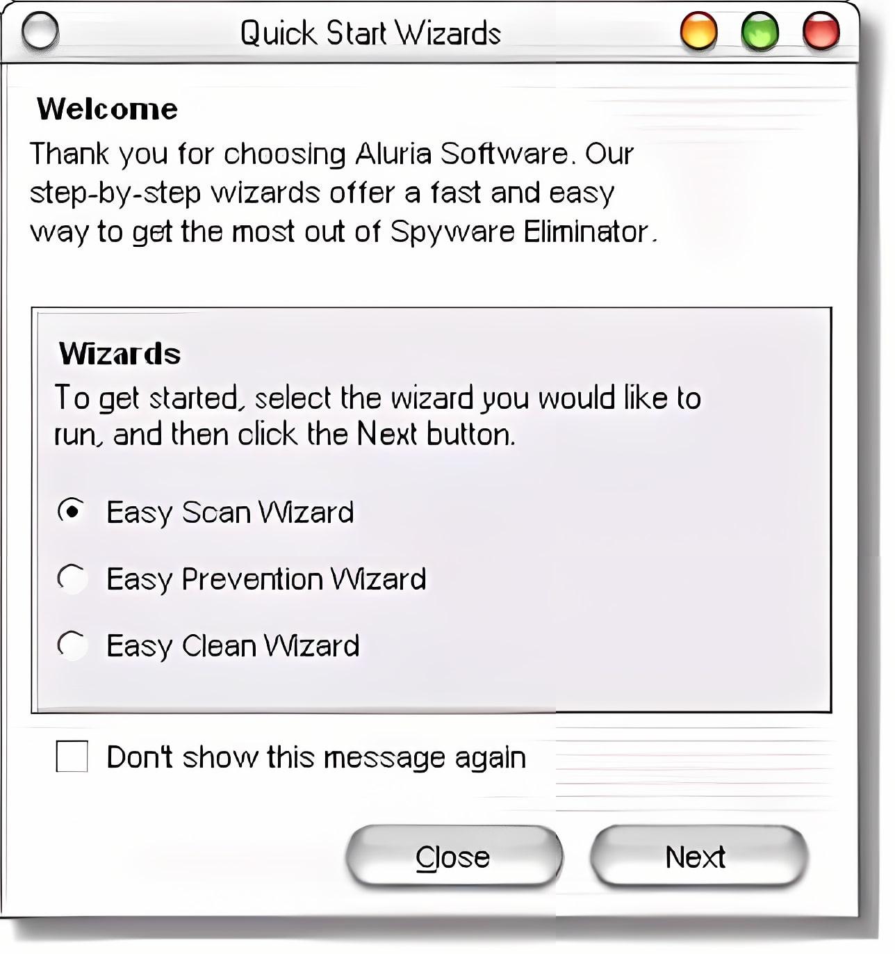 Aluria Spyware Eliminator