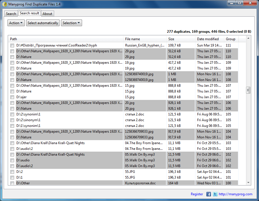 Manyprog Find Duplicate Files