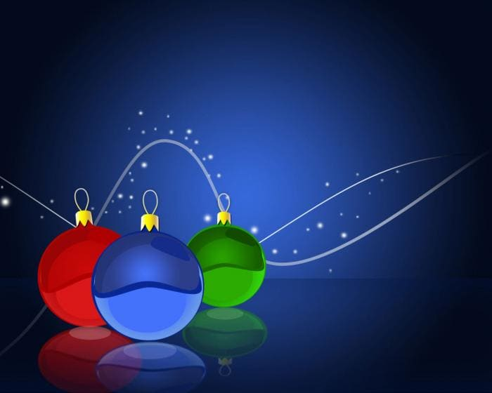 Tapeta Christmas Bulbs Wallpaper