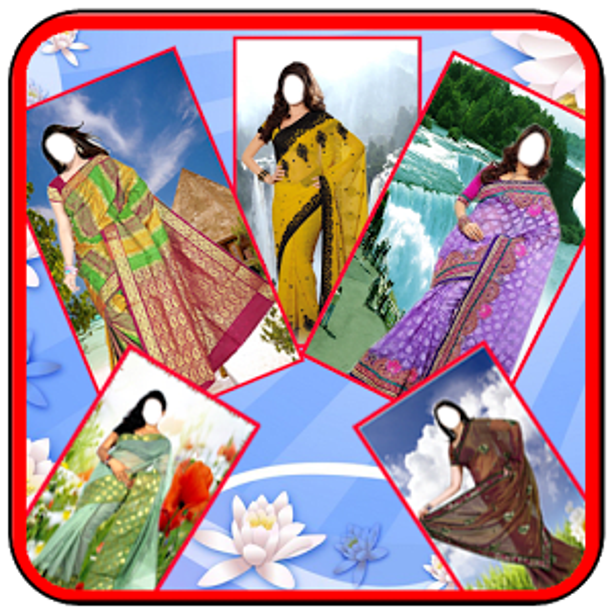 Women Saree Photo Suit New 1