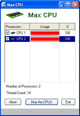 Max CPU