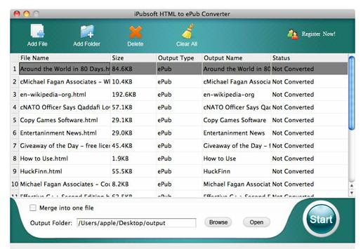 html to epub converter