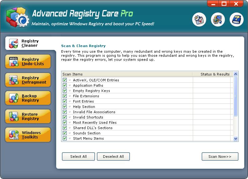 Advanced Registry Care Pro