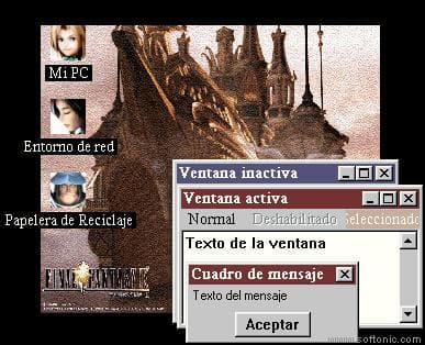 Final Fantasy IX Active Desktop Theme