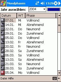 Mondphasen.NET