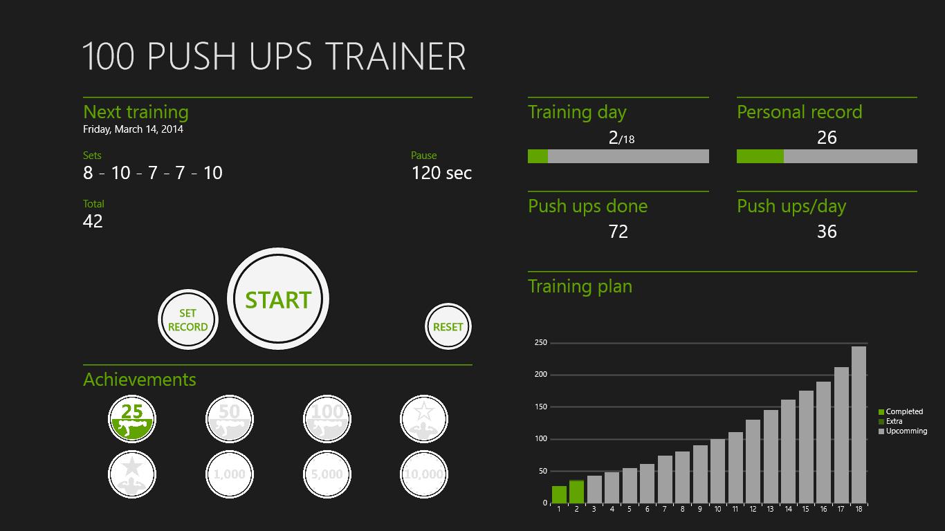 100 Push Ups Trainer