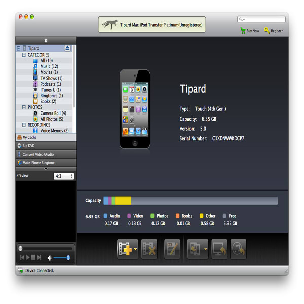 Tipard Mac iPod Transfer Platinum