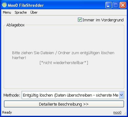 Moo0 FileShredder