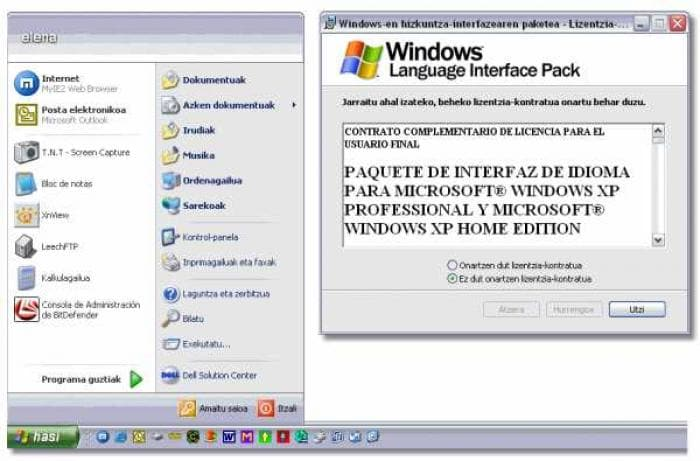Windows XP Euskera LIP