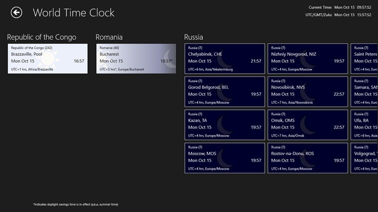 World Time Clock para Windows 10