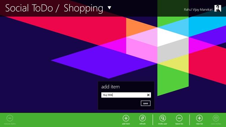Social ToDo para Windows 10