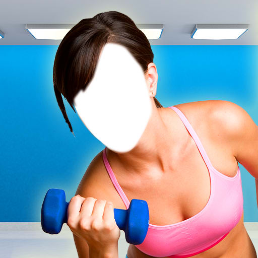 Fitness Girl Photo Montage