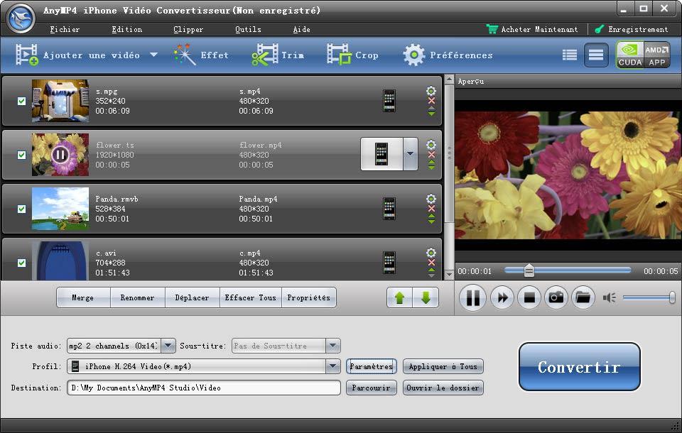 AnyMP4 iPhone Vidéo Convertisseur