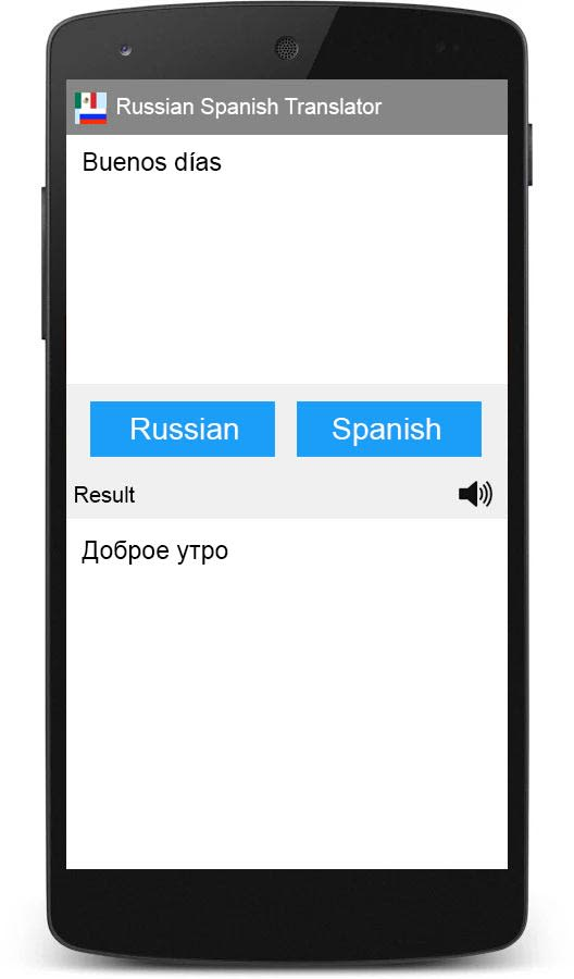 Russian Spanish Translator