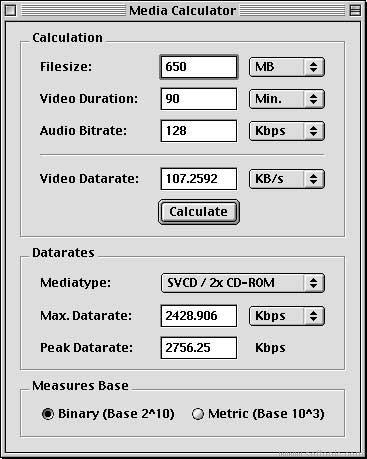 MediaCalculator