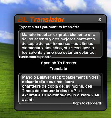 BL Translator Widget