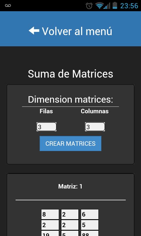 MatrizApp