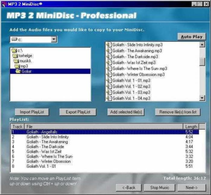 MP3 2 MiniDisc