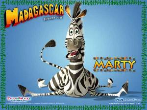 Wallpaper Marty das Zebra